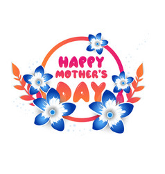 mothers day greeting card with blossom flowers vector image