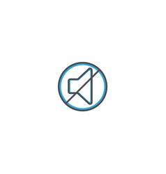 mute icon design essential icon vector image
