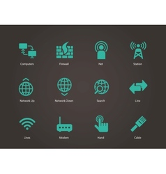 Networking icons vector