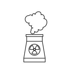 nuclear energy plant vector image