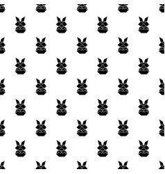 origami bunny pattern seamless vector image
