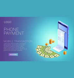 payment phone online concept smartphone vector image