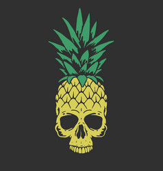 Pineapple like a skull vector