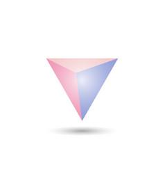 Polygonal geometric figure for web design vector