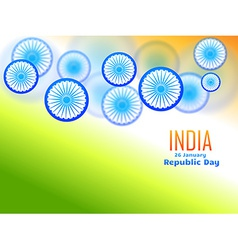 republic day design made with wheel vector image