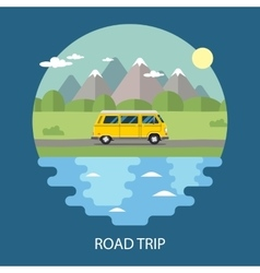 Road trip flat design vector image
