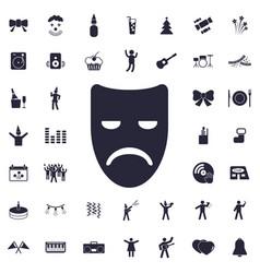 Sad mask icon vector