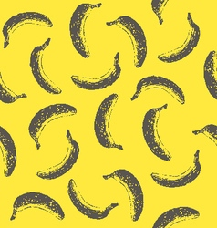 Seamless pattern with ink hand drawn bananas vector image