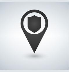 Shield marker icon vector