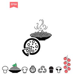 spaghetti or noodle icon vector image