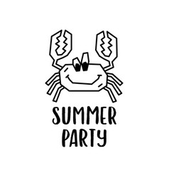 summer party emblem template vector image
