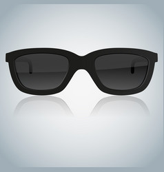 sunglasses on gray background vector image