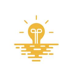 sunset light logo vector image