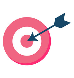 target symbol round space with arrow hit vector image