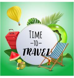 time to travel inspirational quote motivational vector image