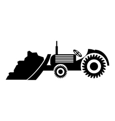 Tractor icon simple style vector