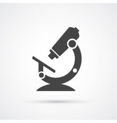 Trendy flat microscope science and medical icon vector image