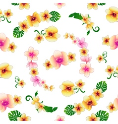 Tropical Flowers Floral Background Seamless vector