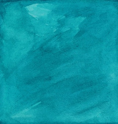 turquoise grunge watercolor background or texture vector image