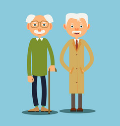 two elderly man vector image