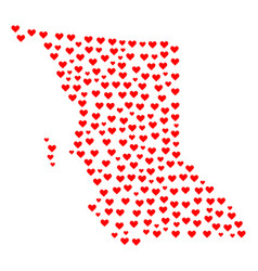 Valentine collage map of british columbia province vector