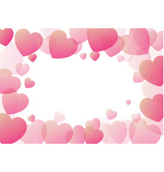 valentines day background with hearts border vector image