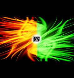 versus vs letters flame fight background vector image