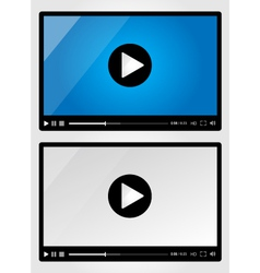 Video player for web - Set vector image