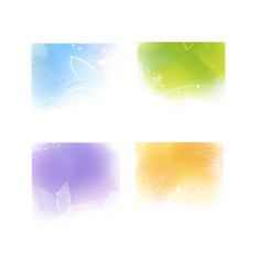 Watercolor style colorful backgrounds vector