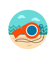 Whistle icon Summer Vacation vector