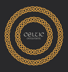 celtic knot braided frame border circle ornament vector image