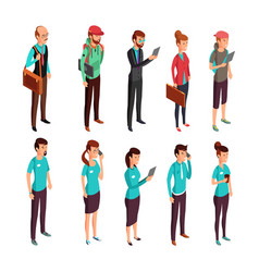 corporate clothes isometric standing vector image vector image