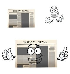 Daily newspaper isolated cartoon character vector image vector image