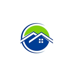house realty technology roof logo vector image