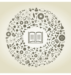 Book of sciences vector image vector image