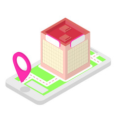isometric location application vector image