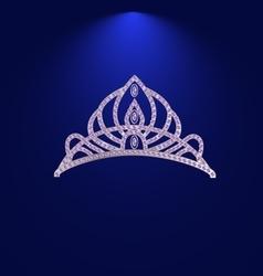 tiara with precious stones vector image