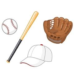 Baseball elements vector