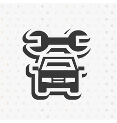 car repair service design vector image