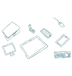 drawing by hand of mobile vector image
