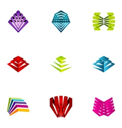 logo design elements set 12 vector image vector image