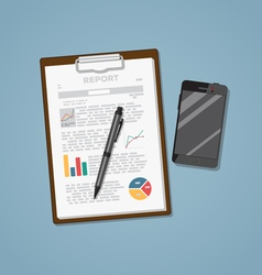 Notepad With Phone vector image vector image