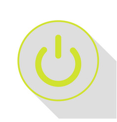 on off switch sign pear icon with flat style vector image vector image