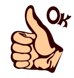 thumps up vector image