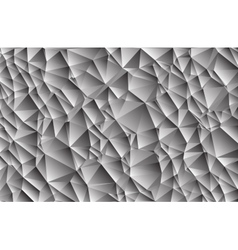Abstract gray background consisting of triangles vector