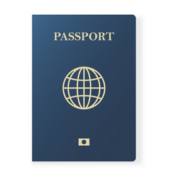 blue passport isolated on white international vector image