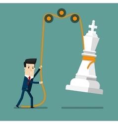 Businessman reaching success strategy vector