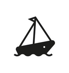 cruise ship icon on white background vector image