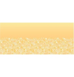 Golden sparkles horizontal seamless pattern vector image vector image