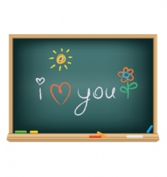 I love you in chalk vector image